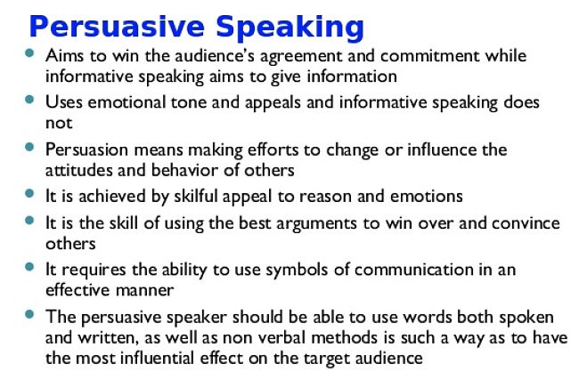 The Art of Persuasive Speaking
