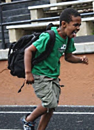 Backpacks that are too heavy, are the wrong size or that are worn improperly can damage kid's backs