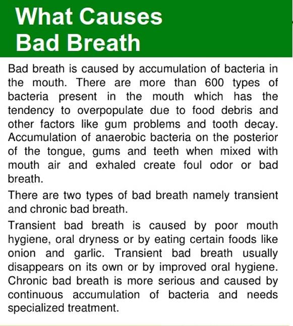 What causes bad breath - see more here