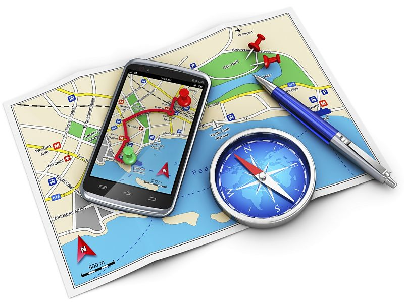 A simple compass helps a lot with understanding the various Map apps that may have poor direction indication
