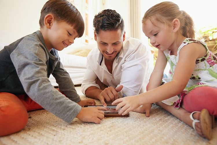 Choose games that parents and kids can play together