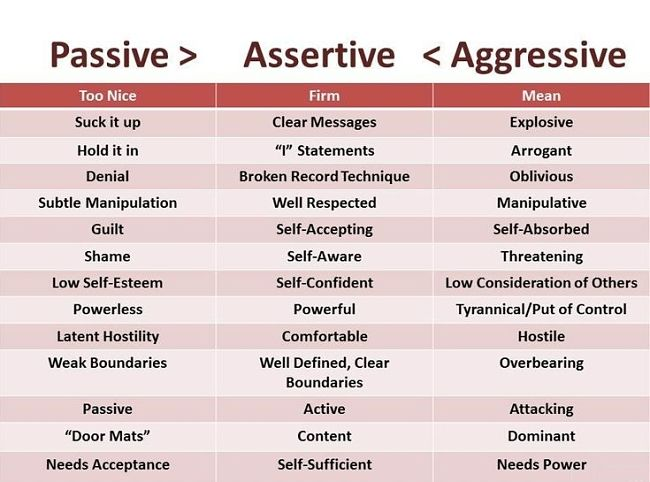 Comparison of Passive, Aggressive and Assertive Approaches and what it means in the workplace