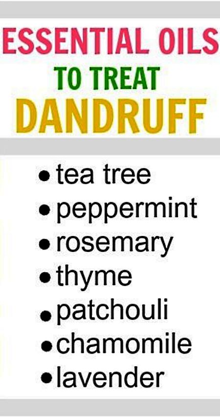 List of essential oils to use as natural remedies for dandruff