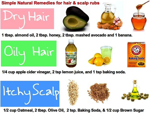 Simple Natural Remedies for dry and oily hair and for Itchy Dry scalp