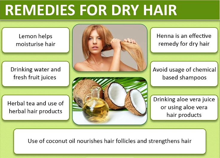 List of healthy natural remedies for dry hair. See the details in this article