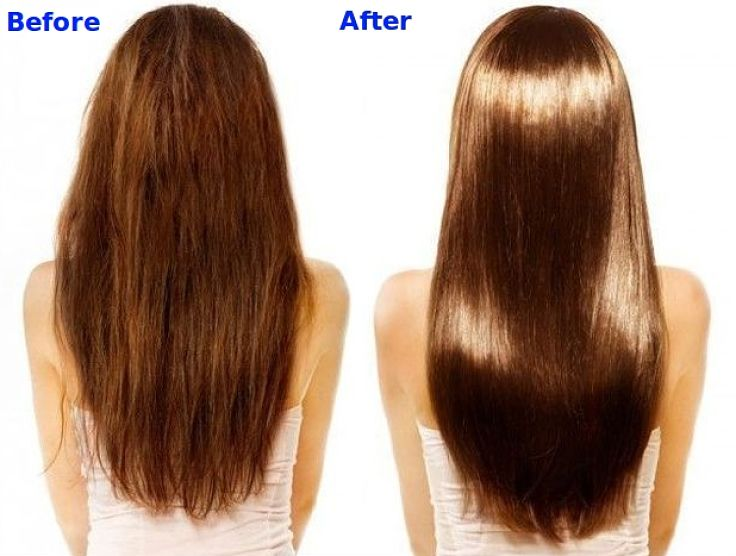 Before and after using a natural hair moisturiser several times. See the healthy natural remedies in this article