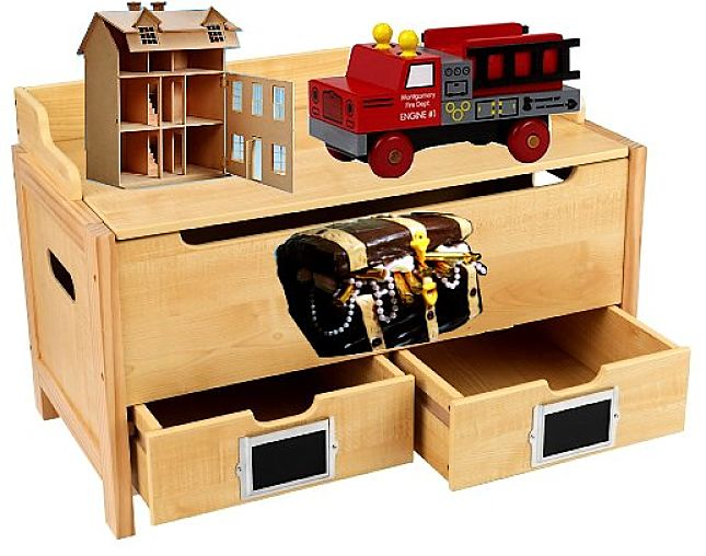 Compartments and drawers are a good idea to keep toys better organised and stop them becoming a jumble and getting damaged.
