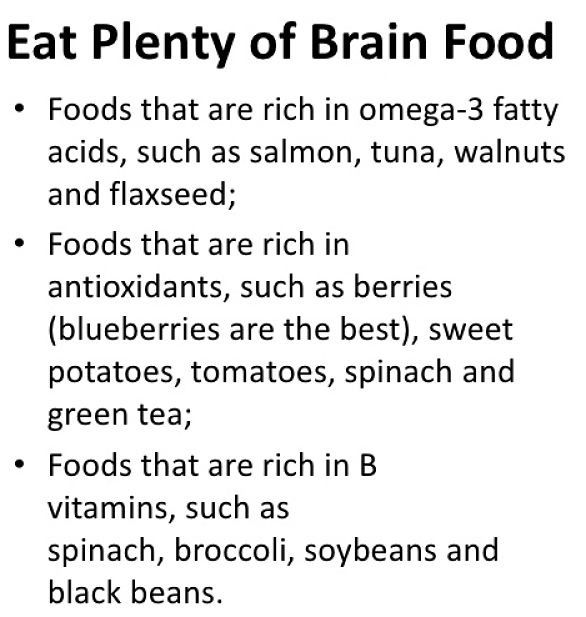 Choosing foods that improve your memory