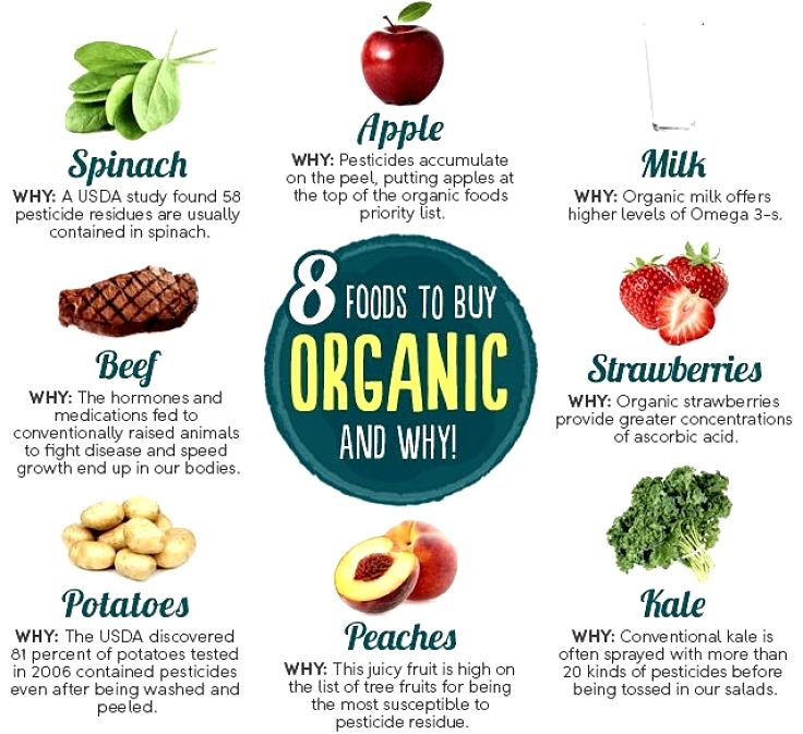 Good choices for buying organic food