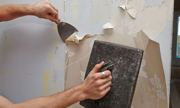 q a best way to remove wallpaper glue paste residue and borders. Black Bedroom Furniture Sets. Home Design Ideas