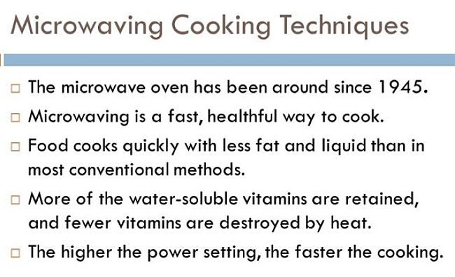 How to cook vegetables in the microwave to retain vitamins
