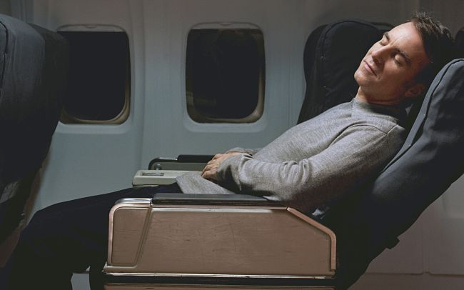 Business class with its extra room is easier for sleeping