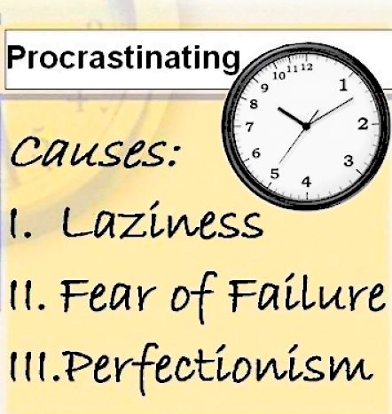 Learn how to stop Procrastinating and get on with it - Just do it Now! Tomorrow never Comes