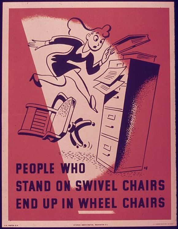 Early Poster about Squeaky chairs