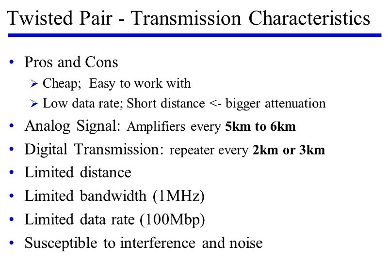 Twisted Pair characteristics